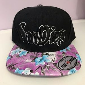 Accessories - San Diego Floral Snap Back Hat